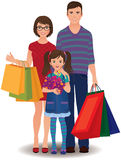Family shopping Stock Photography