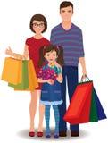 Family shopping Stock Photography