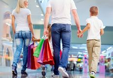 Family shopping Royalty Free Stock Images