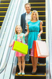 Family on shopping spree. Royalty Free Stock Photos