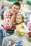 Family shopping in supermarket Royalty Free Stock Photos