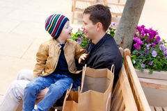 Family shopping together Royalty Free Stock Photo