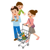 Family in shopping Royalty Free Stock Photography