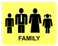 Family - sign Royalty Free Stock Photos