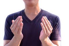 Family sign language royalty free stock photos