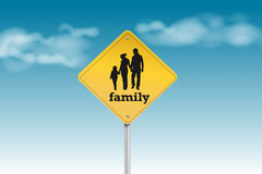 Family sign Stock Images