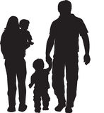 Family silhouette Stock Photo