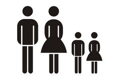 Free Family Silhouette Royalty Free Stock Images - 2796909