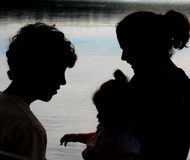 Family Silhouette royalty free stock image