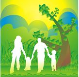 Family silhouette Royalty Free Stock Photos