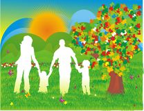 Family silhouette Royalty Free Stock Photo