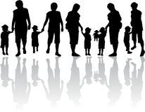 Family silhouette - Illustration Stock Photos