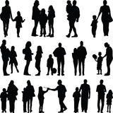 Family silhouette  Stock Image