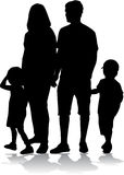 Family Silhouettes Stock Photos
