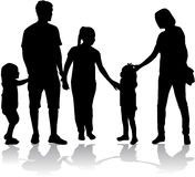 Family Silhouettes Royalty Free Stock Image