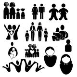 Family silhouettes Royalty Free Stock Photo
