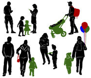Family Silhouettes. Part 5 Royalty Free Stock Image