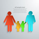 Family Silhouettes with shadow Stock Photos
