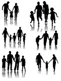 Family Silhouettes . Vector Royalty Free Stock Image