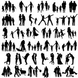 Family Silhouettes . Vector illustration Royalty Free Stock Photography