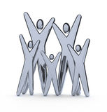 Family - Silver Figures Stock Photography