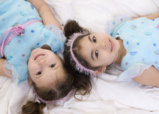 Family Sisters. Happy sisters smiling. Bonding, Love, childhood Stock Photos