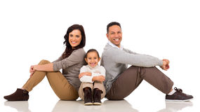 Family sitting floor Stock Photos