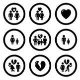 Family situation symbols Royalty Free Stock Photos