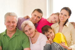 Family of six Royalty Free Stock Photography