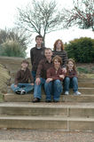 Family of Six Royalty Free Stock Photo