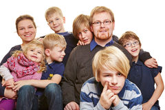 Family with six children Stock Image