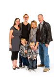 Family of Six Isolated Royalty Free Stock Images