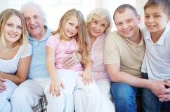 Family of six Royalty Free Stock Photos
