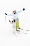 Family ski Stock Images