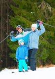 Family at ski resort Royalty Free Stock Photography