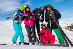 Family on the ski vacation Stock Images