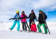 Family on the ski vacation Royalty Free Stock Photo