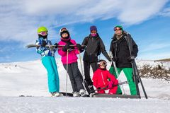 Family on the ski vacation Royalty Free Stock Photos