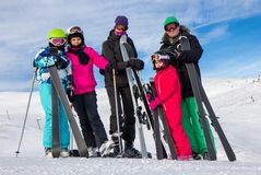 Family on the ski vacation Royalty Free Stock Photography