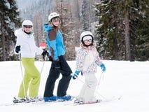 Family skiing Royalty Free Stock Image