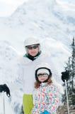 Family skiing Stock Image