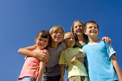 Family on sky Royalty Free Stock Image