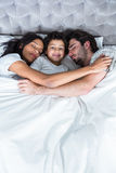 Family sleeping together Royalty Free Stock Image