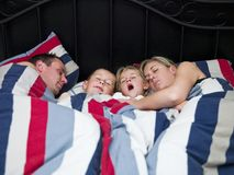 Family sleeps Royalty Free Stock Photography