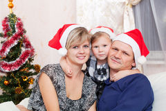 Family with a small daughter Royalty Free Stock Images