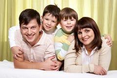 family smiling 库存图片