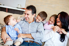 Family smiling Royalty Free Stock Photography