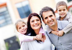 Family smiling Royalty Free Stock Images