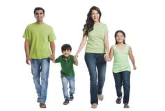 Family smiling. Portrait of a family smiling Royalty Free Stock Photos