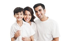 Family smiling. Portrait of a family smiling Royalty Free Stock Photography